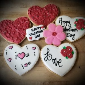Specialty Heart Shaped Cookies