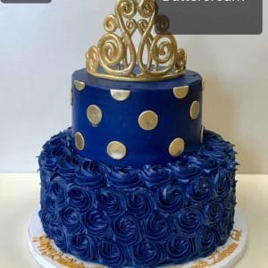 The Prince's Crown Two Tier Rosette Cake
