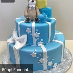 Two Tier Presents and Toys Cake