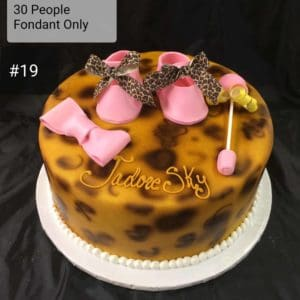 Double Stacked Cheetah Print Cake