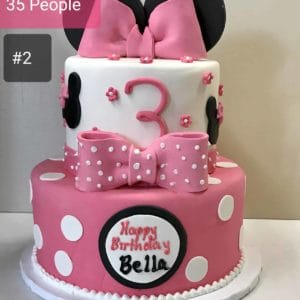 Two Tier Minnie Mouse Cake