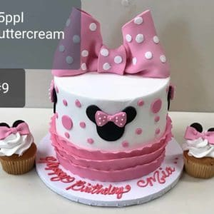 Double Stacked Minnie mouse Cake