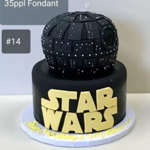 2 Tier Death Star Cake
