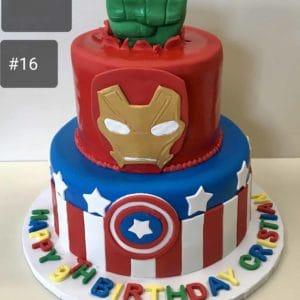 2 Tier Avengers Assemble Cake