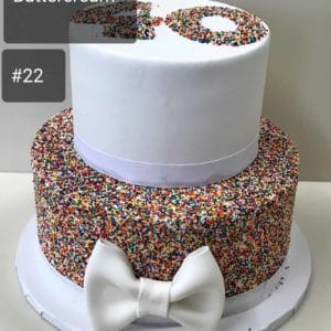 Two Tier Sprinkles Cake