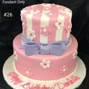Pretty In Pink 2 Tier Cake