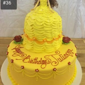2 Tier Belle Dress Cake