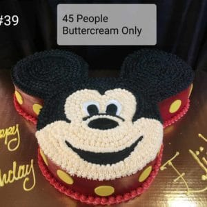 Mickey Shaped Cake