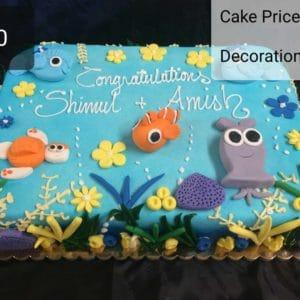 Coral Reef 1/2 Sheet Cake