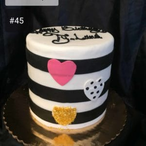 Tall Fondant Striped Cake