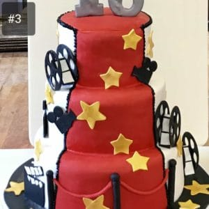 Three Tier Round Cinema Cake
