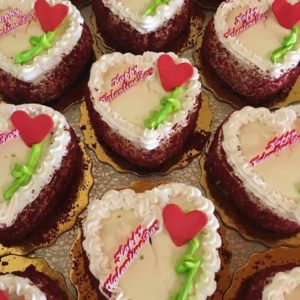 Heart Shaped Mini Red Velvet Cakes