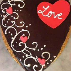 Chocolate Heart Shaped Cake