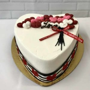 Heart Shaped Cake with Balloons