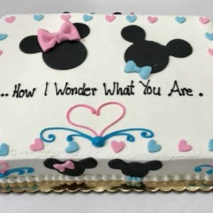 Mickey Mouse Gender Reveal Cake