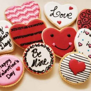 Specialty Valentines Day Cookies