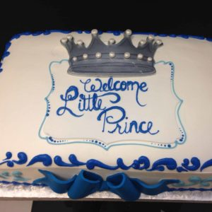 Welcoming the Prince 1/2 sheet cake